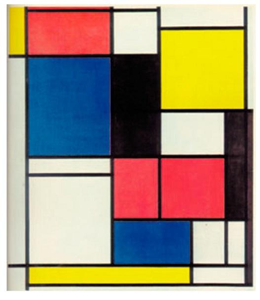 Πίνακας ΙΙ, λάδι σε καμβά, 1921-1925, Συλλογή Max Bill, Ζυρίχη, του Piet Mondrian